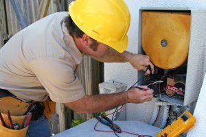 подключение электропитания - окончательный этап монтажа
