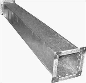 прямошовный воздуховод квадратного сечения