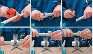 Этапы сварки полипропиленовых труб