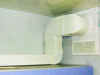 Пример обустройства канальной вентиляции из конструкции прямоугольных элементов (помещение кухни)