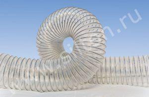 Воздуховод из полиолефина, армированный стальной проволокой