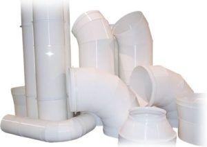 Элементы круглого пластикового воздуховода