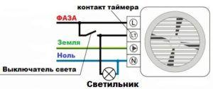 Схема подключения вентилятора к электросети