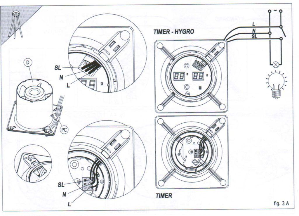Вентилятора с датчиком влажности схема подключения