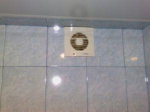 Готовая вытяжка в ванной