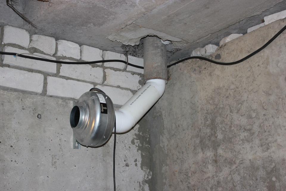как сделать принудительную вентиляцию в подвале