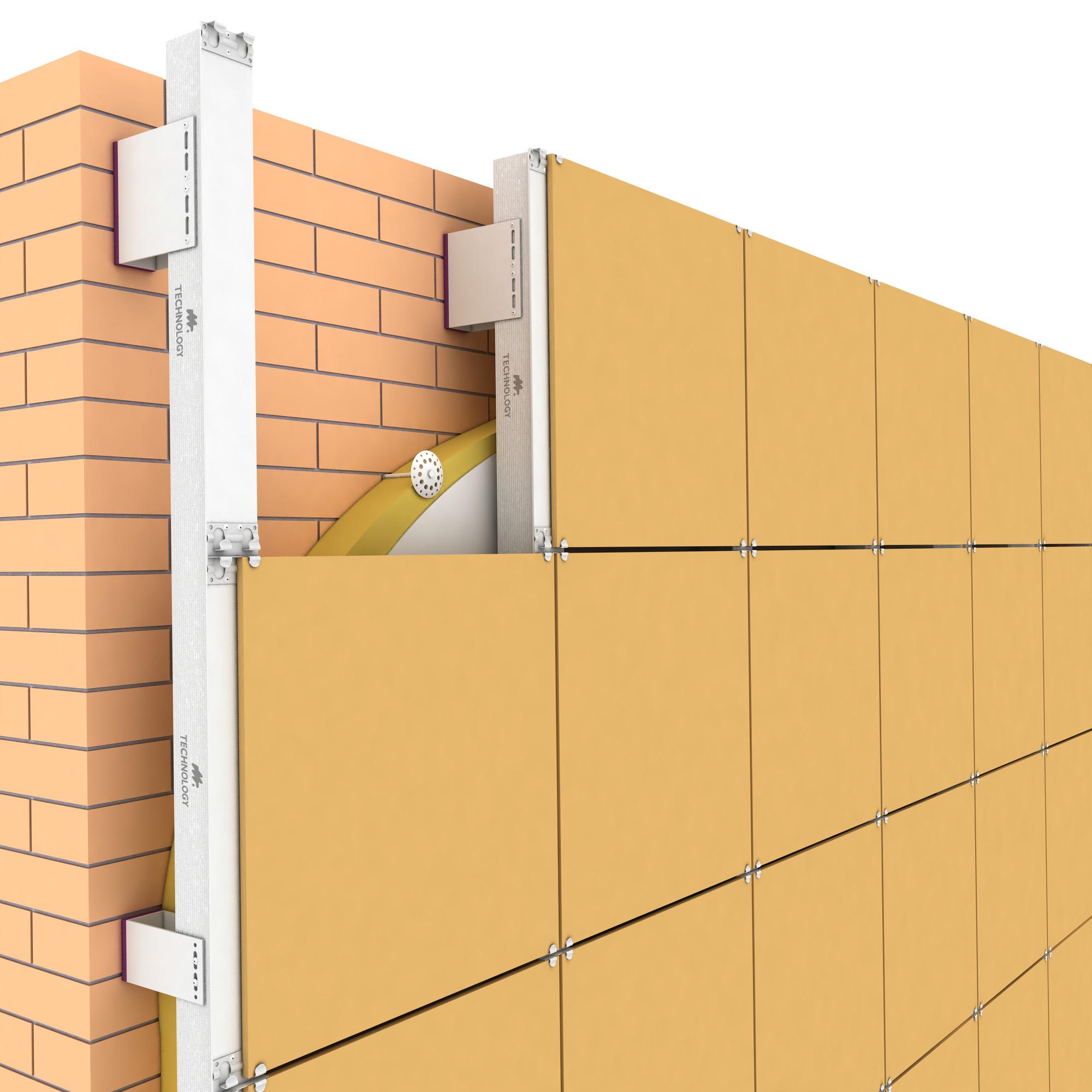 устройство вентилируемых фасадов из композитных
