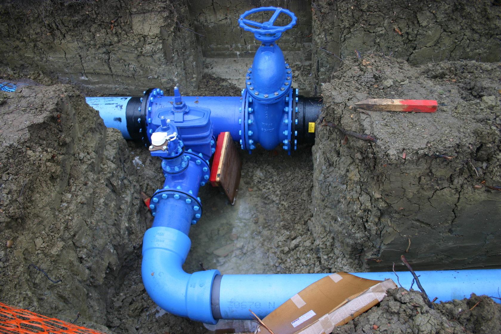 монтаж зимнего водопровода инсерво