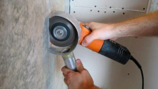 Штробление стен болгаркой без пыли