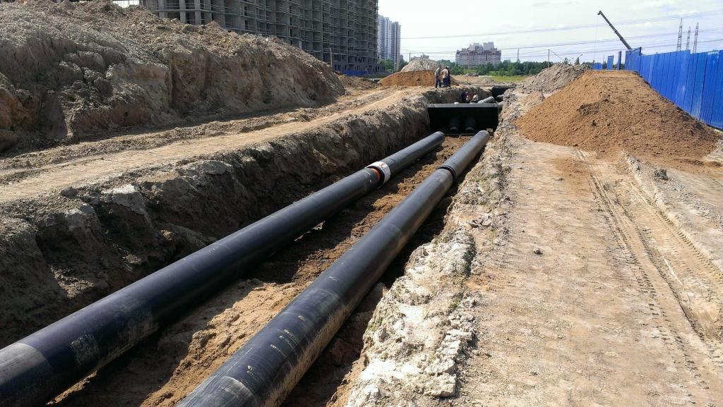 Строительство наружных сетей водопровода и канализации