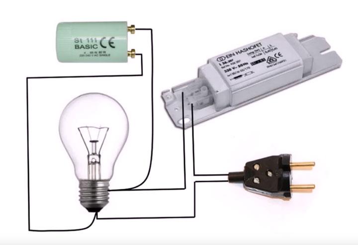 Замена люминесцентных ламп проверка