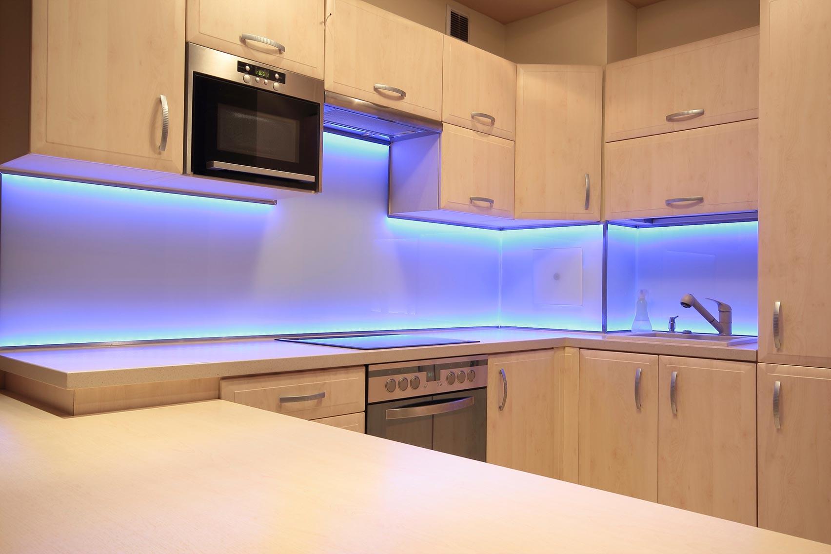 подсветка кухни светодиодной лентой фото указана обработку, учитывая