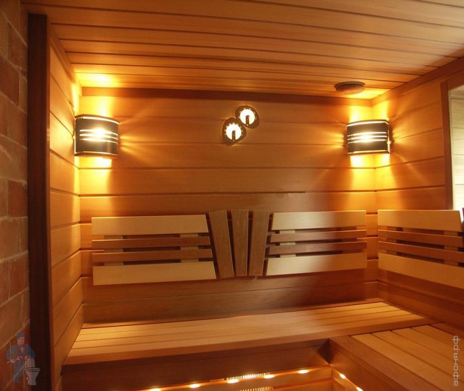 Какие светильники выбрать для бани типы и особенности