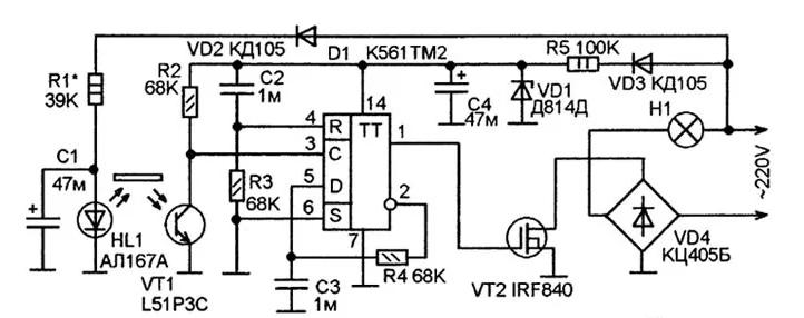 Как собрать сенсорный выключатель своими руками описание и схема сборки