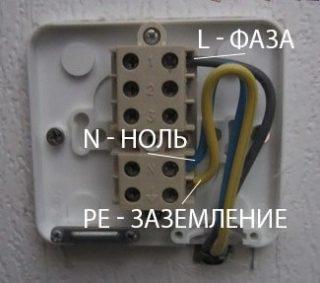 Подключение электроплиты с помощью клеммной коробки