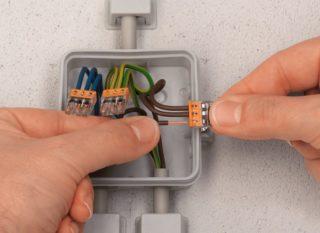 С помощью Wago даже большое количество проводов легко и быстро монтируются