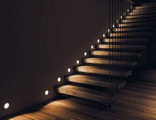 Способы освещения лестниц — светильники и датчики - вопрос