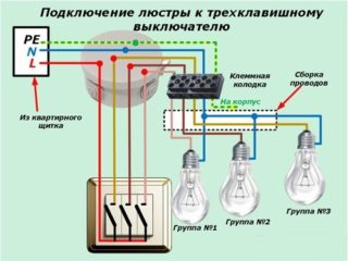 Подключение трехклавишного выключателя: схема и конструкция - Стройка