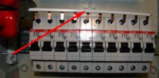 Гребенка – соединительная шина для автоматов