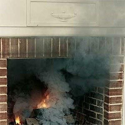 Не горит печка дымит