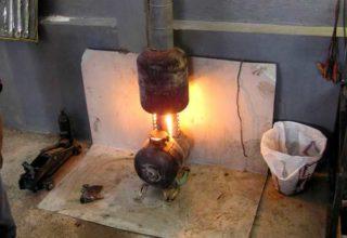 Печь на отработке с водяным отоплением