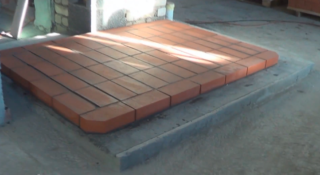 Установка печи в бане на бетонный пол