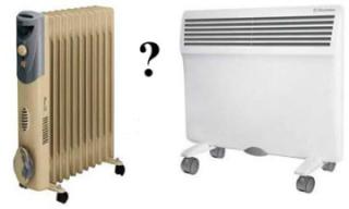 Преимущества конвектора перед масляным радиатором