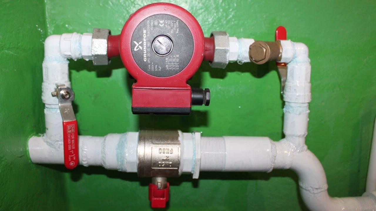 Работа водяного насоса для отопления