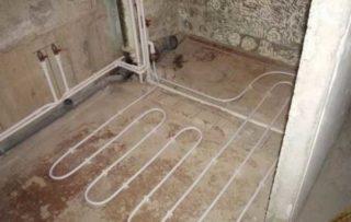 Теплый пол от батареи в квартире