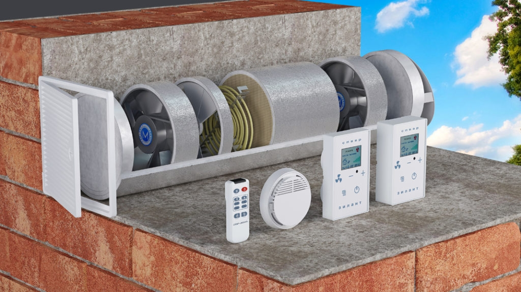 Система подогрева воздуха в приточной вентиляции