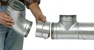 Как установить вентиляционные трубы прокладка и крапление воздуховодов к стенам