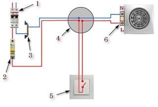 Как правильно подключить вентилятор в ванной к выключателю