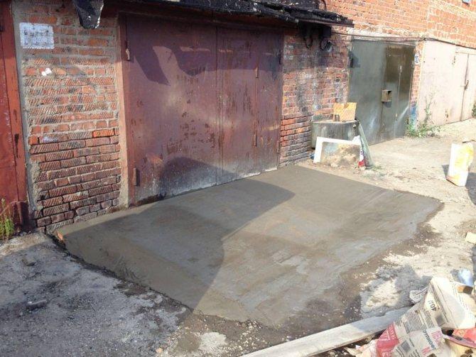 Бетон перед гаражом винст бетон